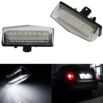 Toyota Prius OEM-Fit 3W Full LED License Plate Light Kit Powered by 24-SMD Offroad Overland Lifted Xenon White LED